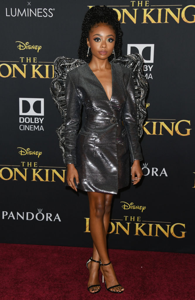 "SKAI JACKSON AT THE PREMIERE OF DISNEY'S ""THE LION KING"", 2019"
