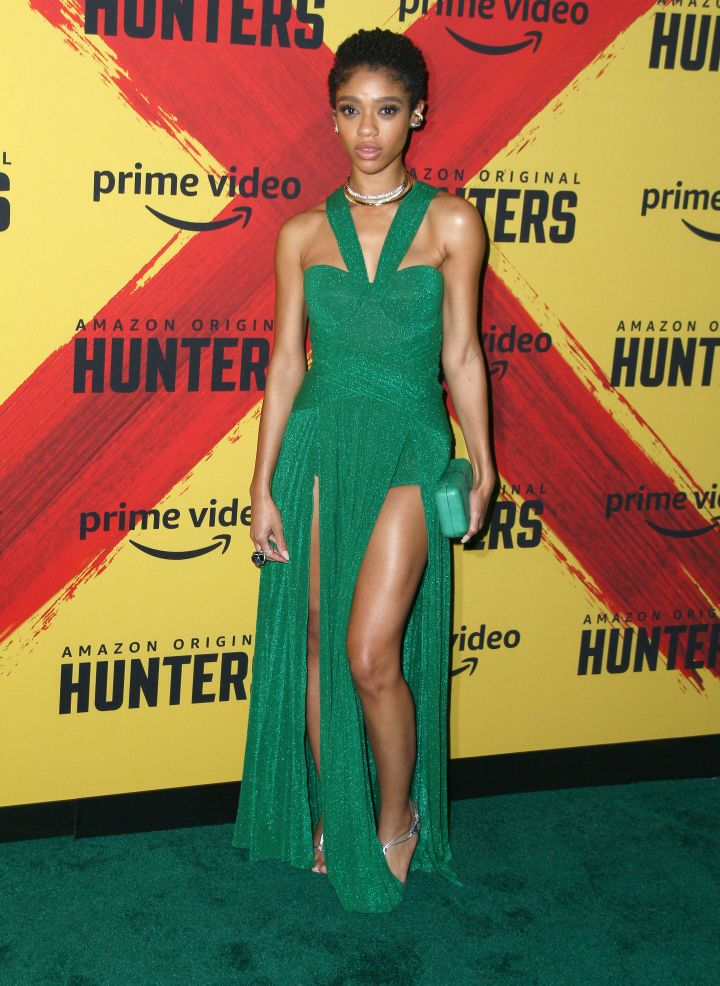 "Tiffany Boone attends Amazon's premiere of ""Hunters"" in Los Angeles"