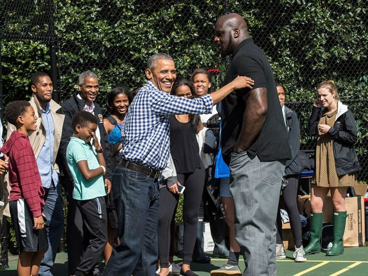 Obama and Shaq