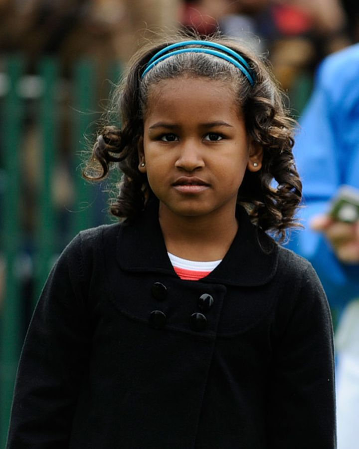 SASHA OBAMA AT THE ANNUAL EASTER EGG ROLL, 2009