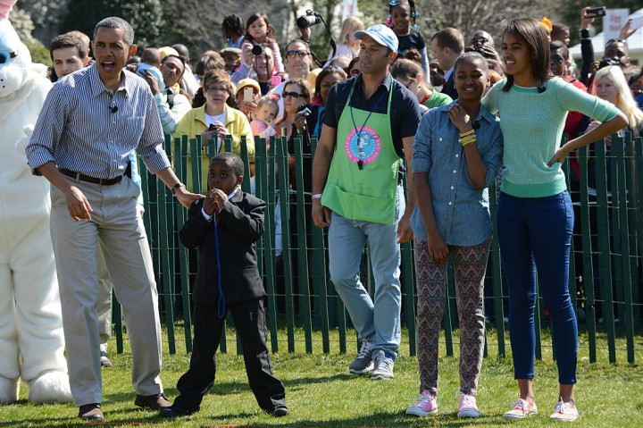 President Barak Obama, and the First Family host the annual Easter Egg Roll at the White House.