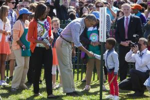 Obama in White House Easter Egg Roll