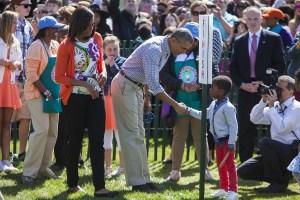 Obama in White House Easter Egg Roll