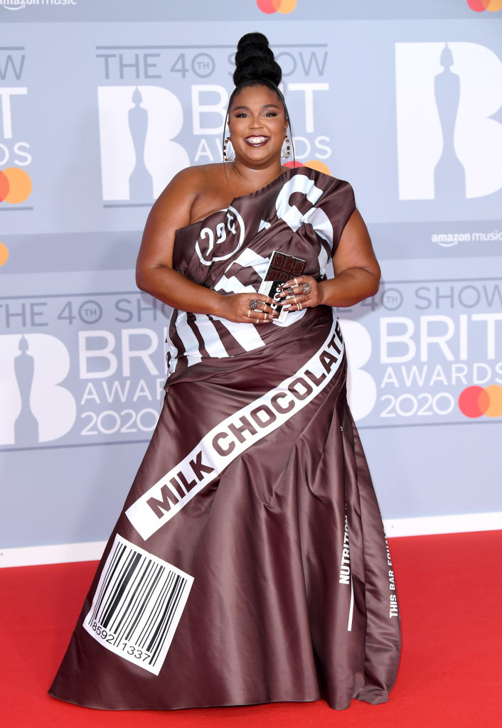 LIZZO'S SECOND LOOK AT THE BRIT AWARDS, 2020