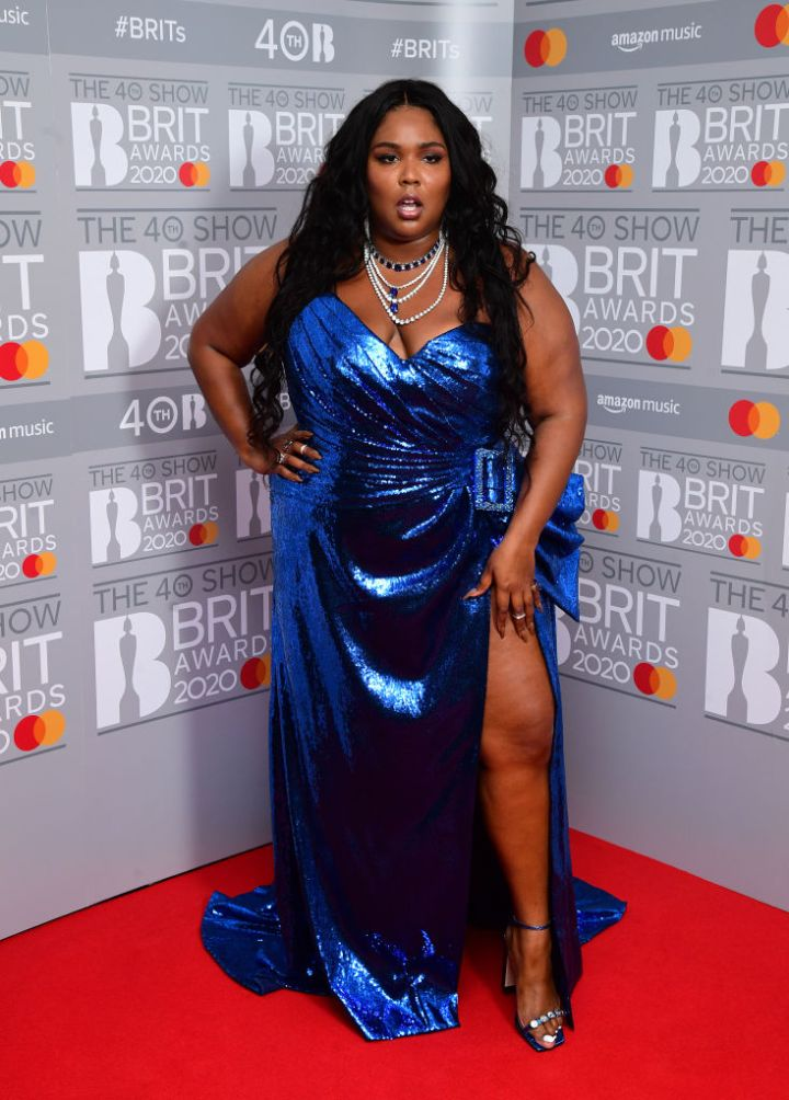 LIZZO AT THE BRIT AWARDS, 2020