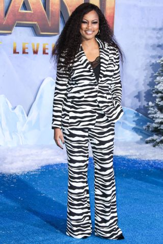 Garcelle Beauvais arrives at the World Premiere Of Columbia Pictures' 'Jumanji: The Next Level' held at the TCL Chinese Theatre IMAX on December 9, 2019 in Hollywood, Los Angeles, California, United States.