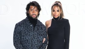 Russell Wilson and Ciara arrive at the Tom Fo...