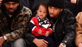 Celebrities Attend Brooklyn Nets v New York Knicks Game