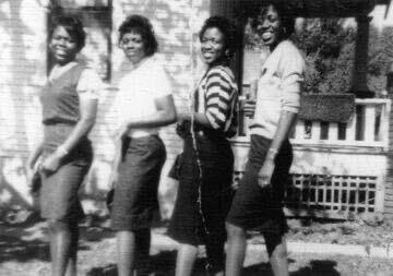 Sisters Joyce, Carol, Mary and Wilhelmena Benson 1957, Stillwater, OK.