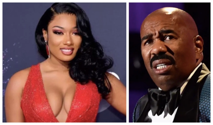 This Video Of Steve Harvey's Face Superimposed Over Megan Thee Stallion's Is Too Much!