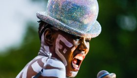 Grace Jones performs at BN1 Lovefest , part of Brighton Pride on Sunday 4 August 2019