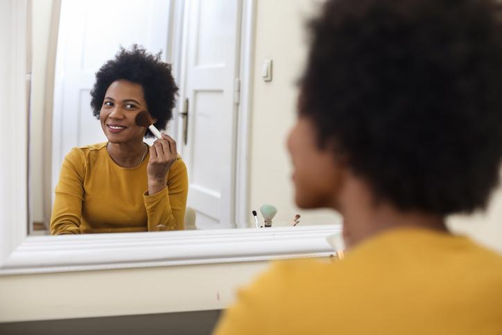 Woman doing make-up
