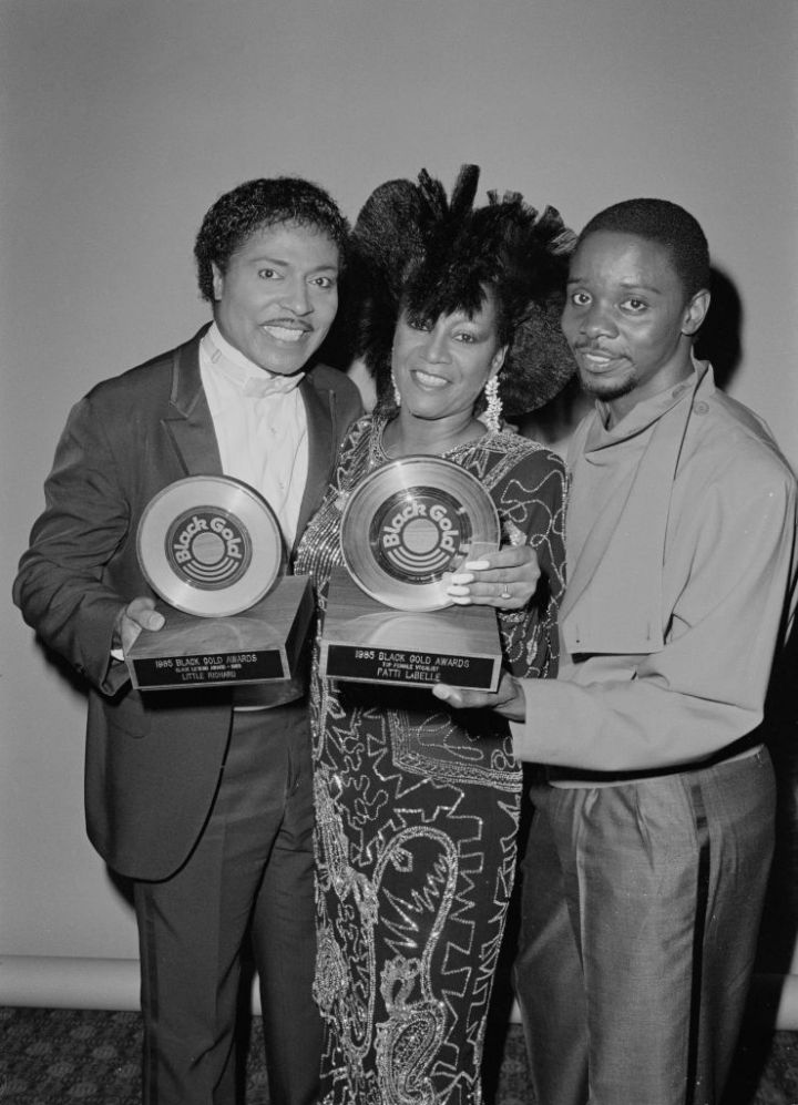 LITTLE RICHARD, PATTI LABELLE, AND PHILLIP BAILEY AT THE BLACK GOLD AWARDS, 1985