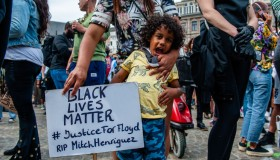 Solidarity Protest Against Anti-black Violence In The US And EU, In Amsterdam