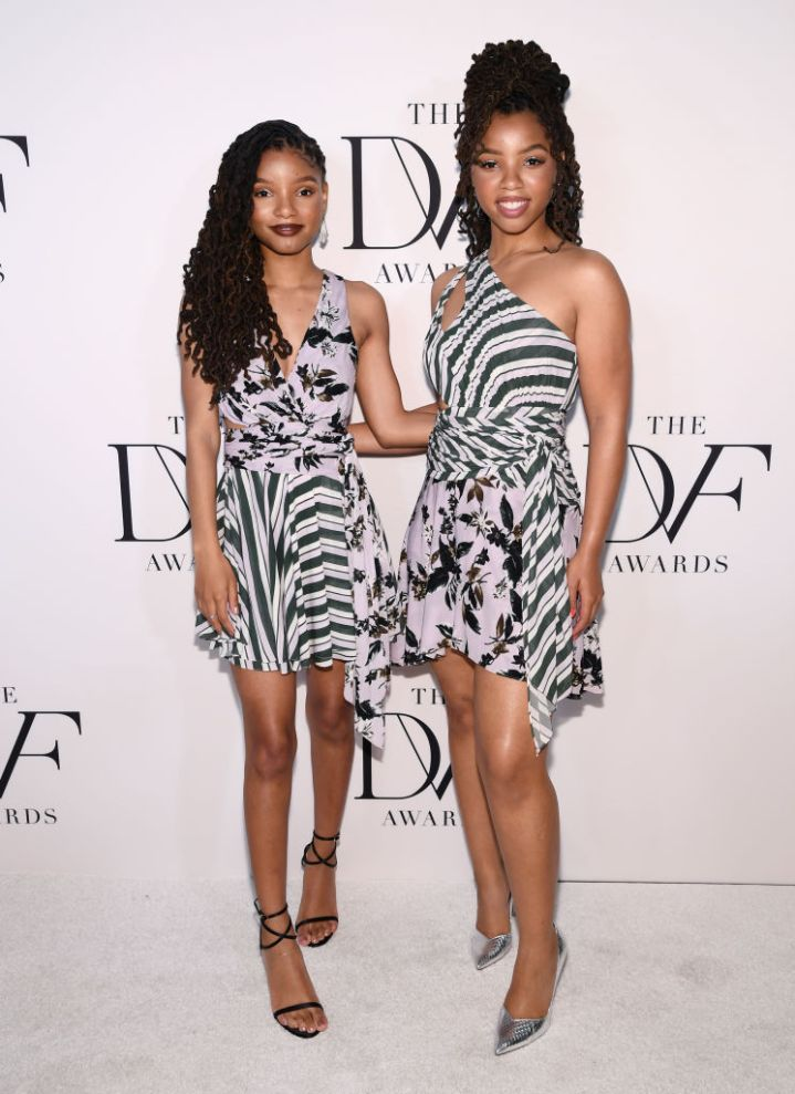 CHLOE X HALLE AT THE 10TH ANNUAL DVF AWARDS, 2019