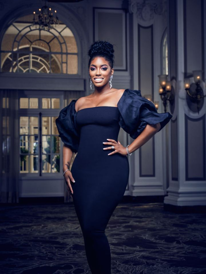 PORSHA WILLIAMS IN A PROMO SHOT FOR THE REAL HOUSEWIVES OF ATLANTA, 2019