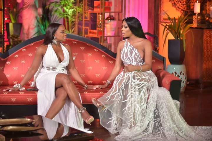 PORSHA WILLIAMS ON SET OF THE REAL HOUSEWIVES OF ATLANTA REUNION, 2015