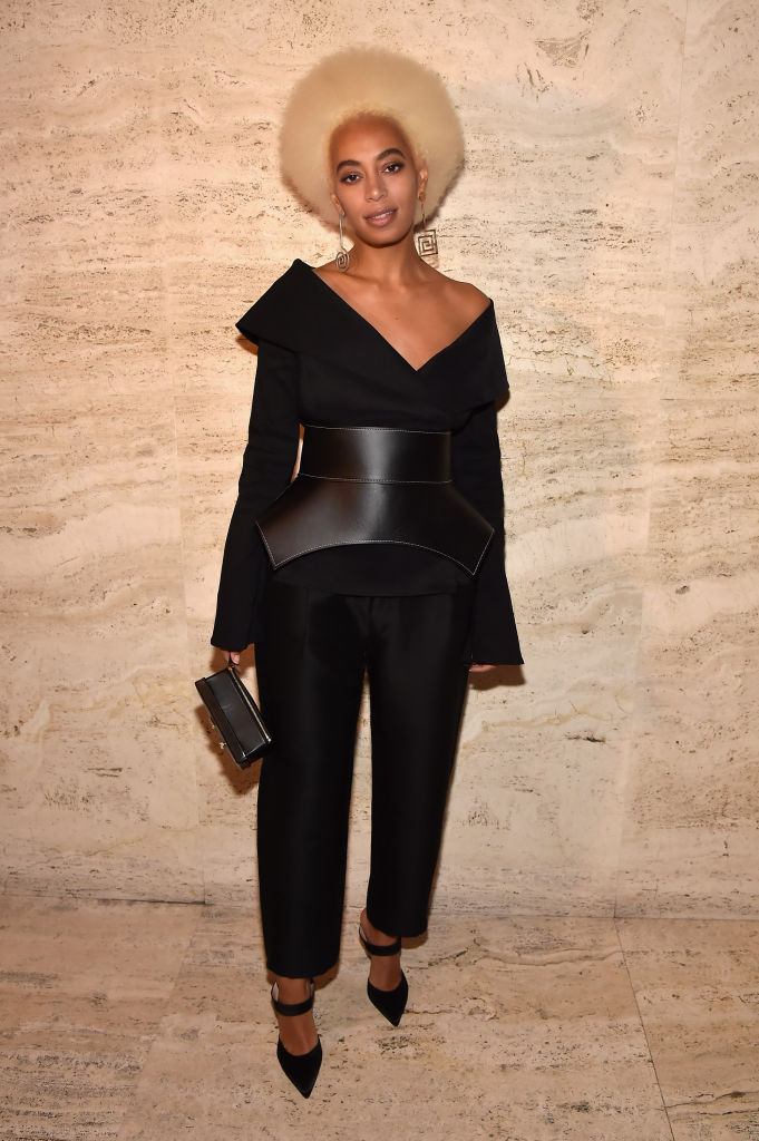SOLANGE KNOWLES AT THE SUART WEITZMAN FW18 PRESENTATION, 2018