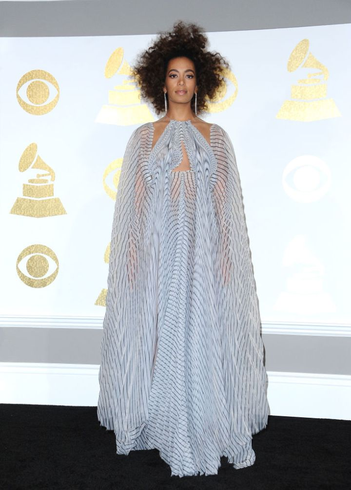 SOLANGE KNOWLES IN THE 59TH ANNUAL GRAMMYS PRESS ROOM, 2017