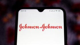 In this photo illustration Johnson & Johnson logo is seen...