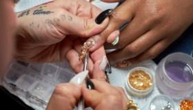 Nail art chandelier nails