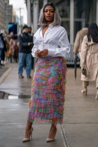 Street Style - Day 2 - New York Fashion Week February 2020