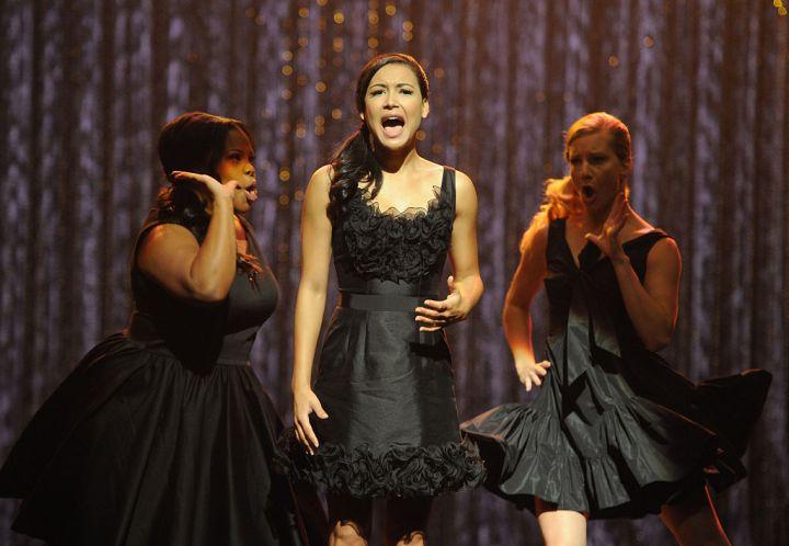 """NAYA RIVERA AT FOX'S 300TH MUSICAL PERFORMANCE OF """"GLEE"""", 2011"""