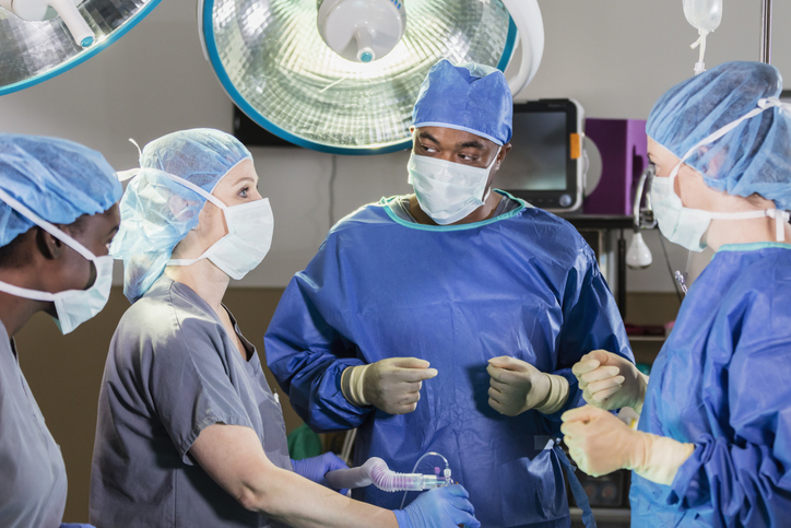 Medical team in operating room