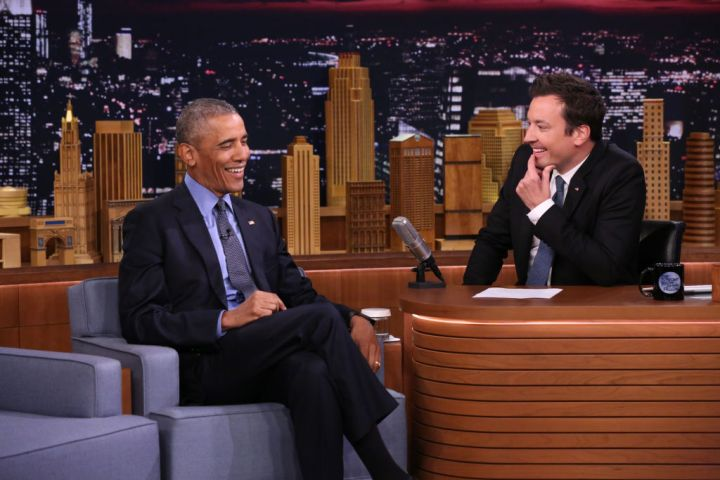 BARACK OBAMA AT THE TONIGHT SHOW STARRING JIMMY FALLON, 2016
