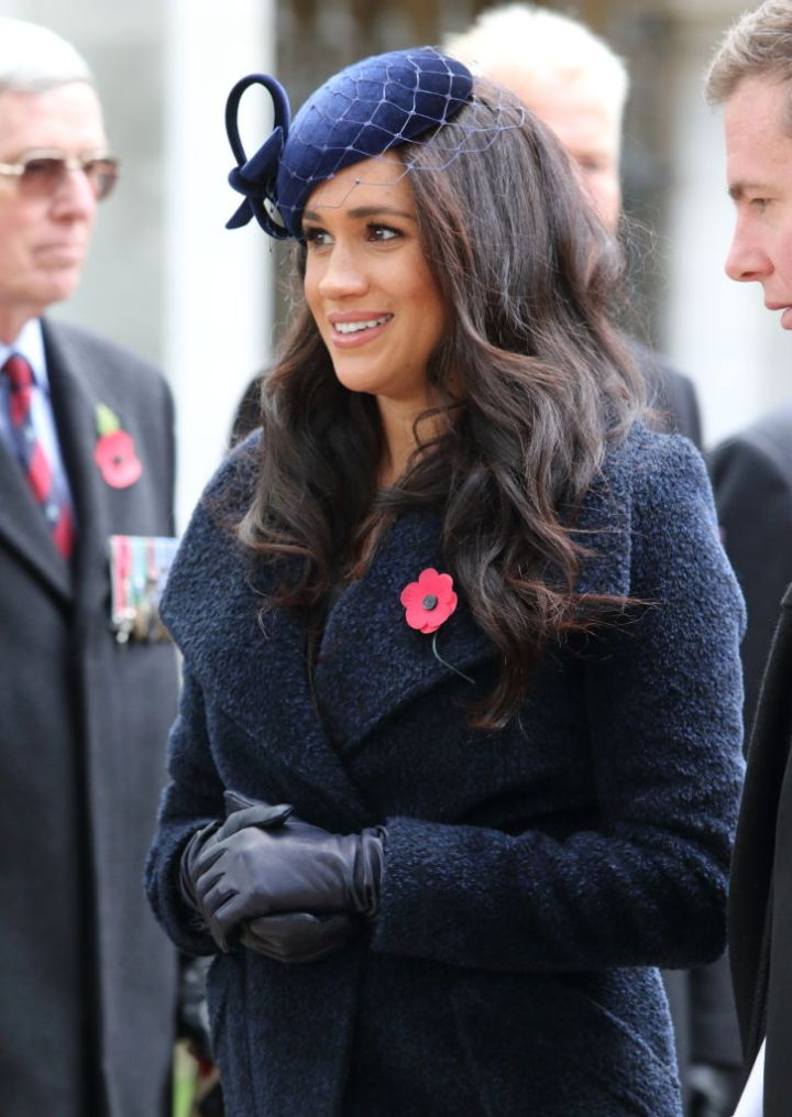 MEGHAN MARKLE AT THE OPENING OF THE WESTMINSTER ABBEY FIELD OF REMEMBRANCE IN LONDON, 2019