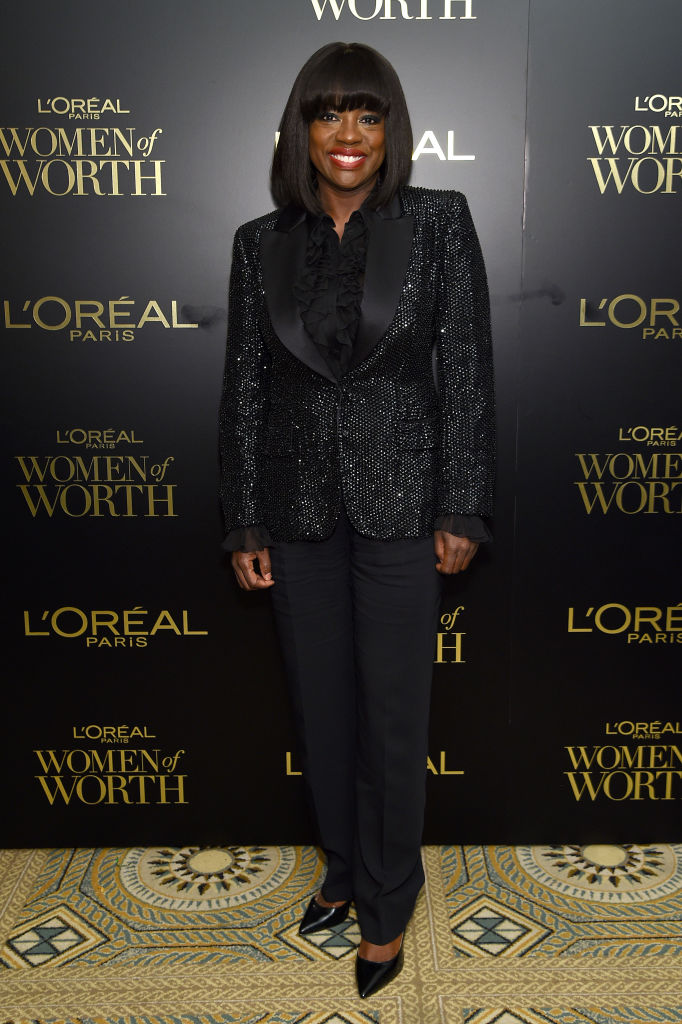 VIOLA DAVIS AT THE 14TH ANNUAL L'OREAL PARIS WOMEN OF WORTH AWARDS, 2019