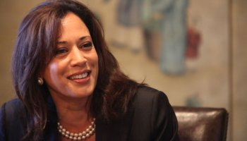 Kamala Harris at the San Jose Mercury News