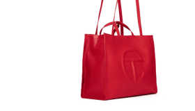 Telfar Large Red Shopping Bag