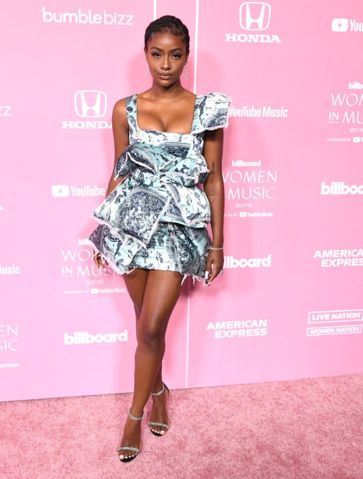 JUSTINE SKYE AT THE BILLBOARD WOMEN IN MUSIC EVENT, 2019