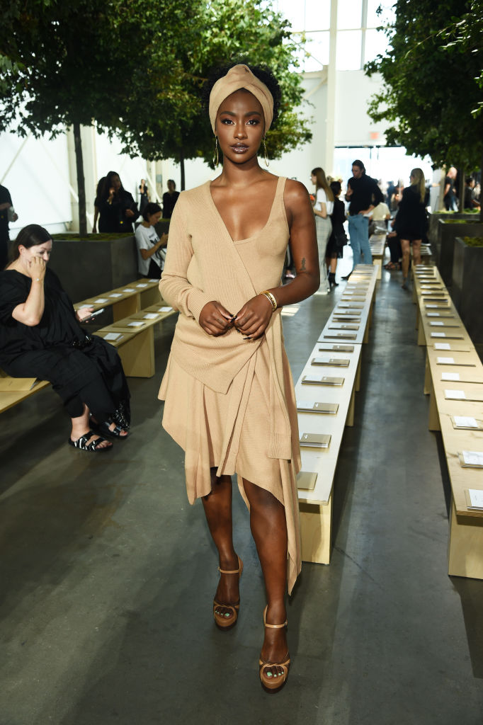 JUSTINE SKYE AT THE MICHAEL KORS COLLECTION SPRING 2020 SHOW, 2019