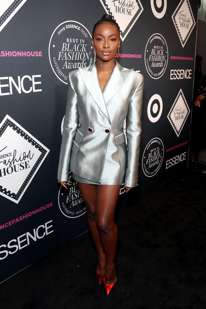 JUSTINE SKYE AT THE ESSENCE BEST IN BLACK FASHION AWARDS, 2019