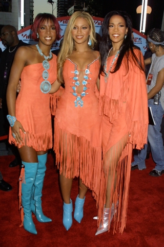 Destiny's Child arriving for the 2001 MTV Video Music Awards @ Lincoln Center in NYC 9/6/01