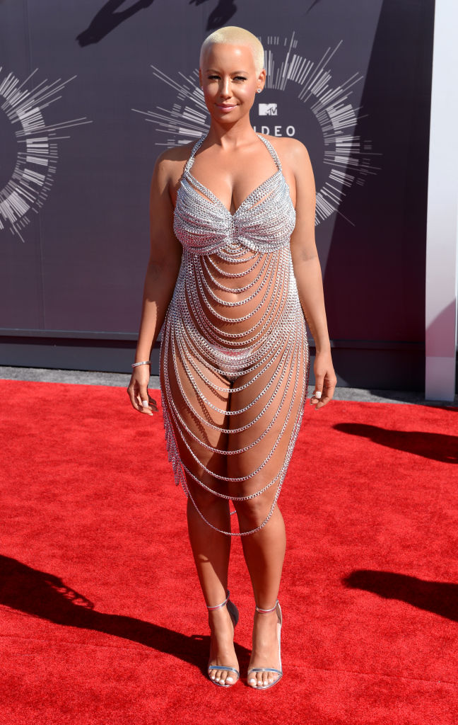 AMBER ROSE AT THE MTV VIDEO MUSIC AWARDS, 2014