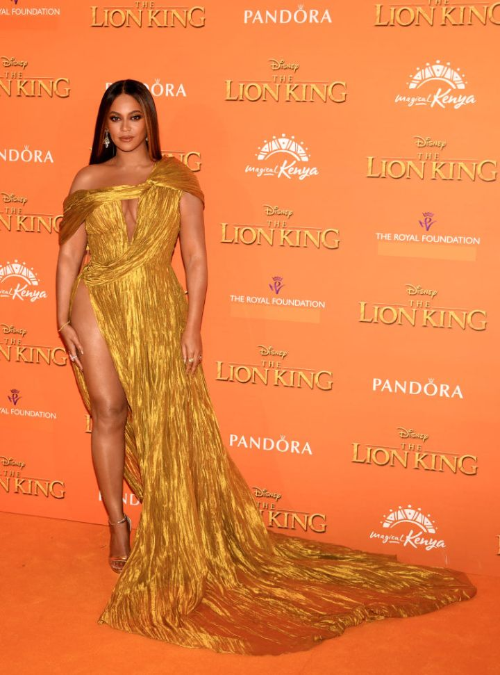 """BEYONCE AT THE EUROPEAN PREMIERE OF DISNEY'S """"THE LION KING"""", 2019"""