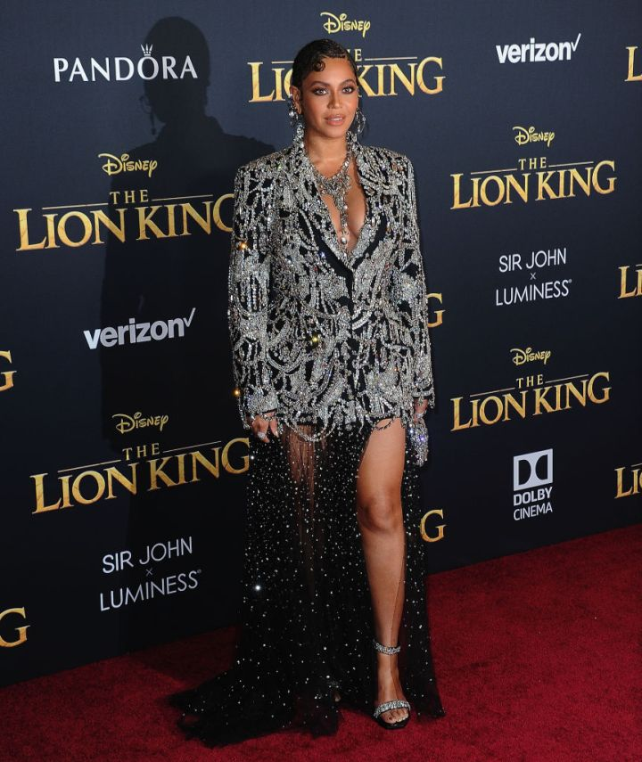 """BEYONCE AT THE PREMIERE OF DISNEY'S """"THE LION KING"""", 2019"""