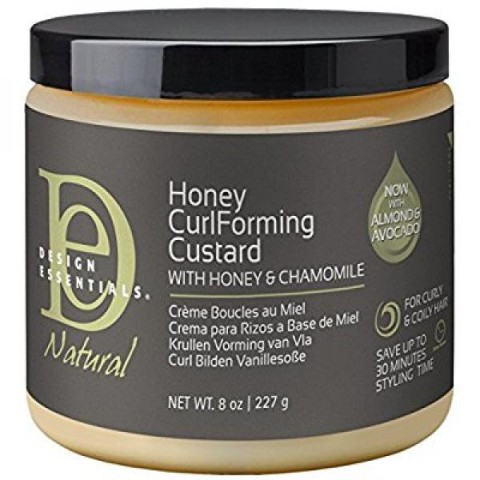 Design Essentials Natural Honey Curl Forming Medium Hold Custard for Intense Shine and Definition 8oz