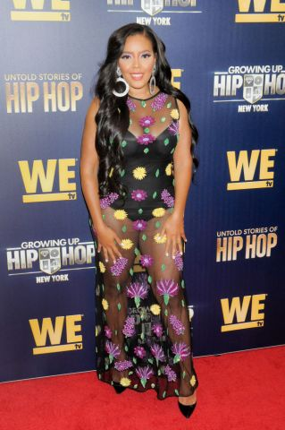 Angela Simmons attends the Growing Up Hip Hop, New York and...