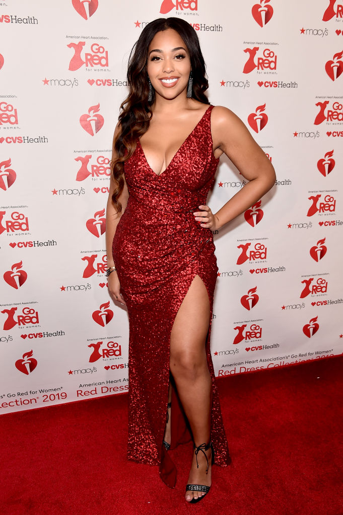 JORDYN WOODS AT THE AMERICAN HEART ASSOCIATION'S GO RED FOR WOMEN RED DRESS COLLECTION, 2019