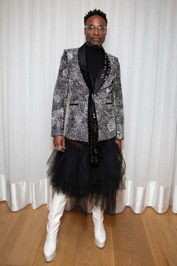 BILLY PORTER AT THE MATTY BOVAN SHOW DURING LONDON FASHION WEEK, 2020