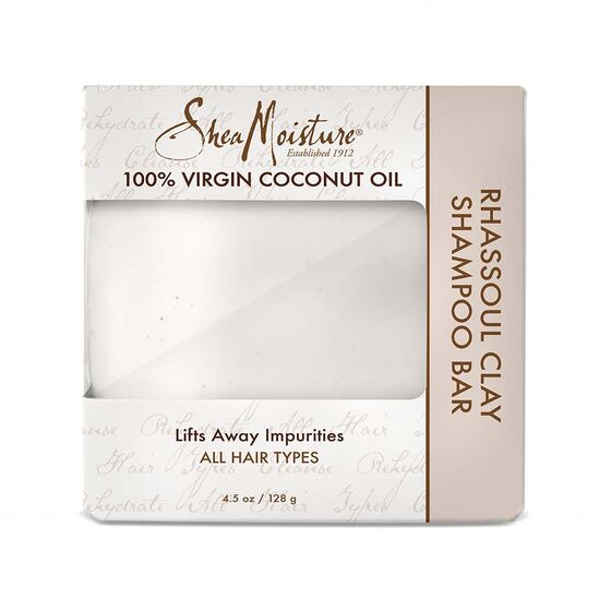 Shea Moisture 100% VIRGIN COCONUT OIL RHASSOUL CLAY SHAMPOO BAR