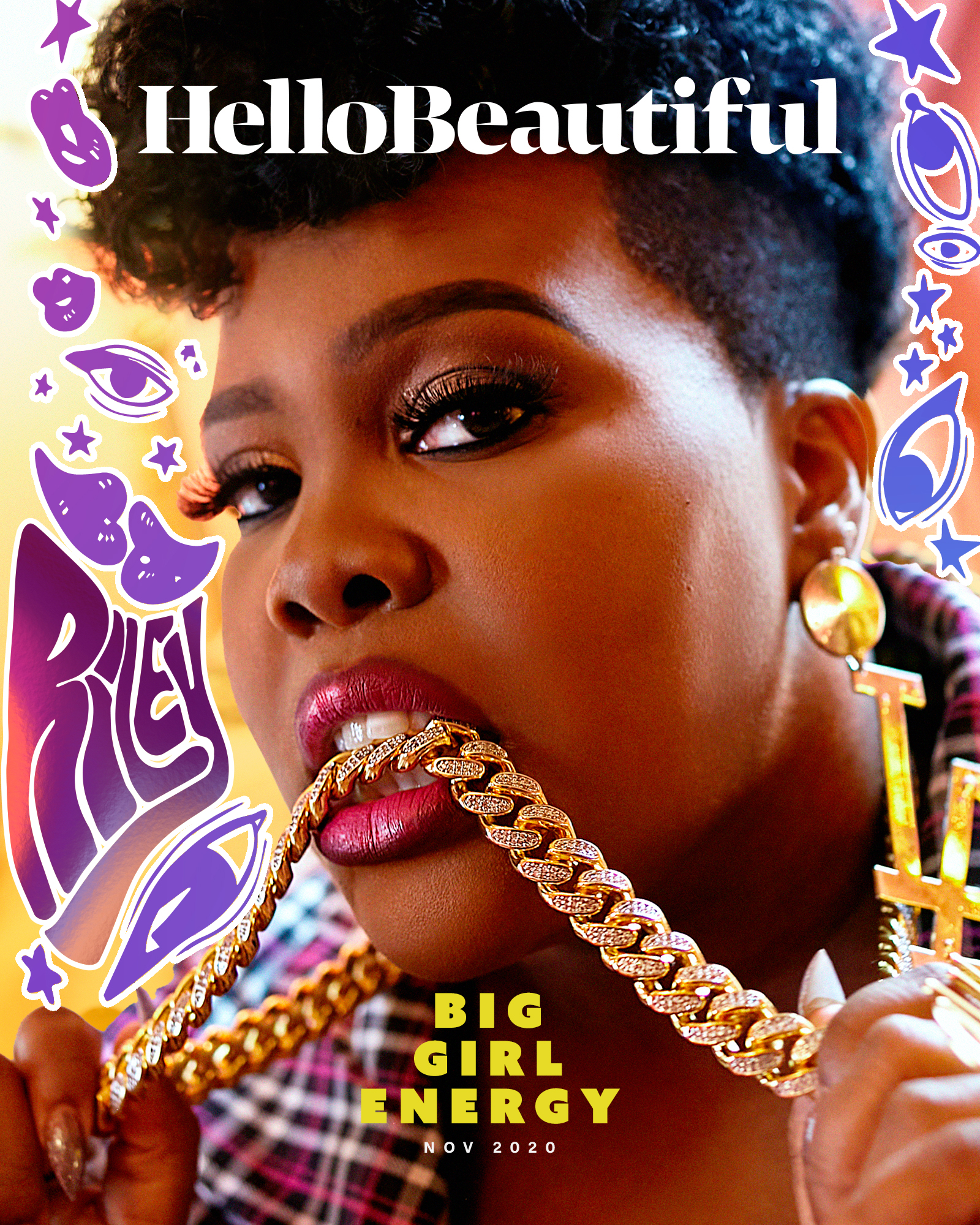 Amber Riley featured in HelloBeautiful's November Cover.