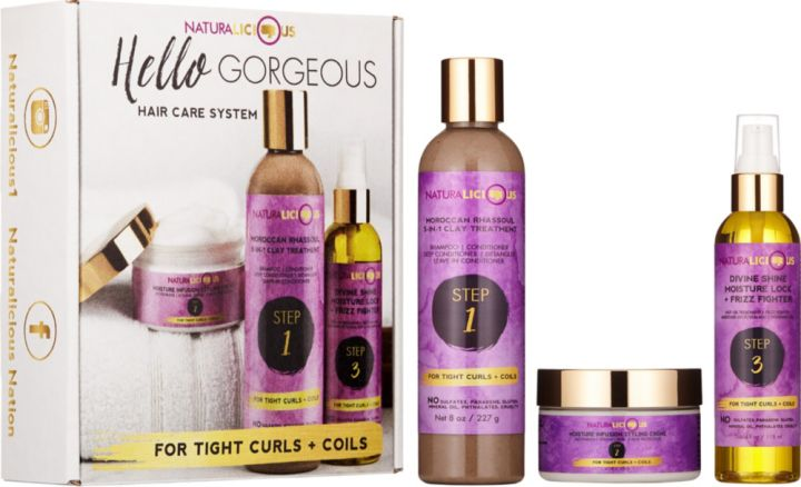 Naturalicious Hello Gorgeous Hair Care System (For Tight Curls & Coils