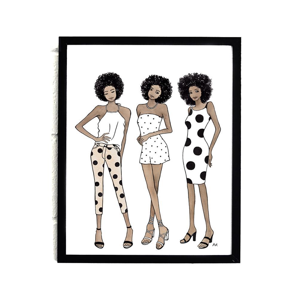 akr Design Studio - Black Women Wall Art