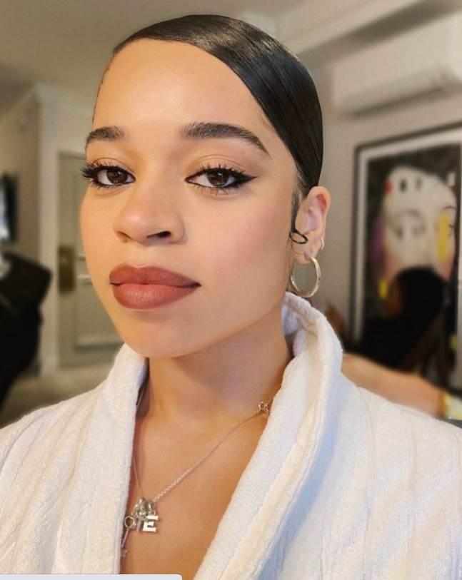 Ella Mai Makeup for soul train awards