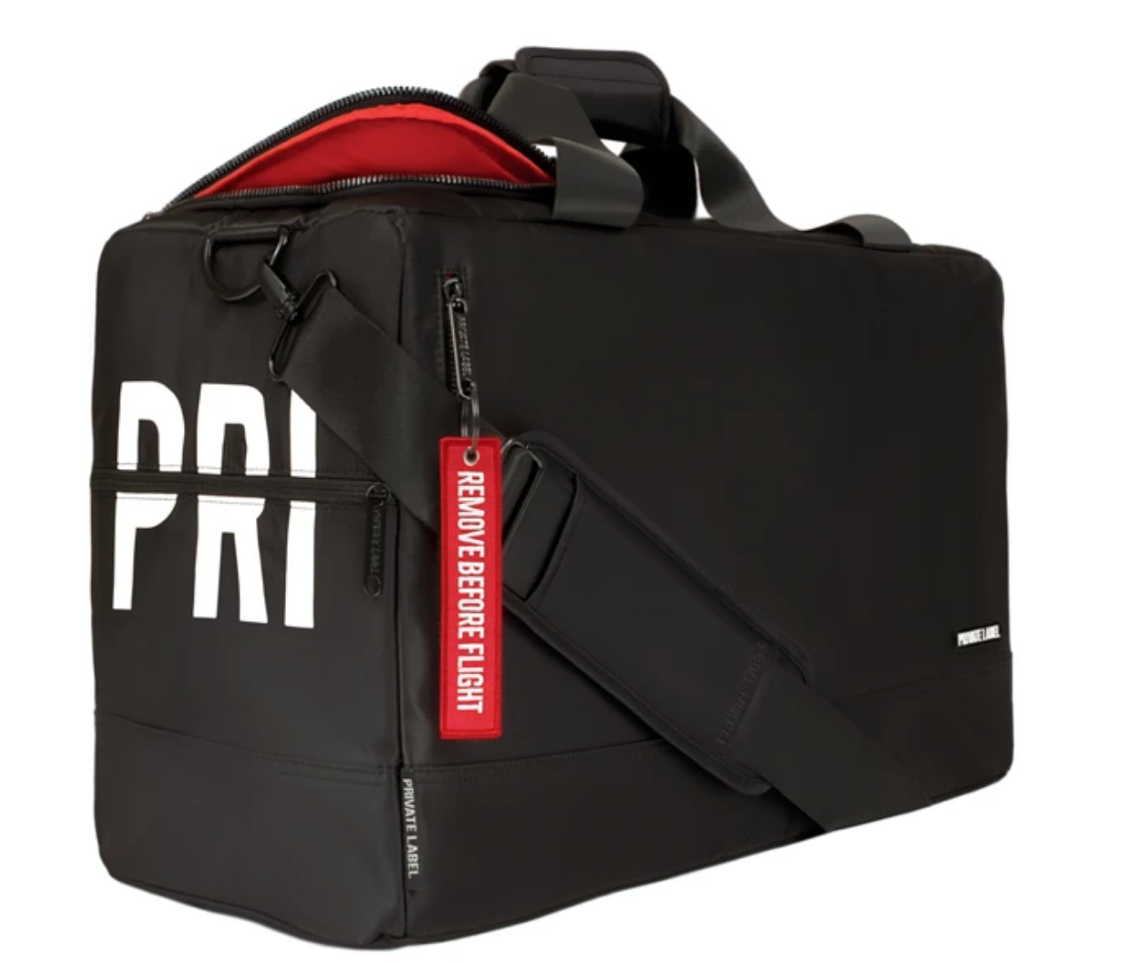 Private Label RED / BLACK - DUFFLE